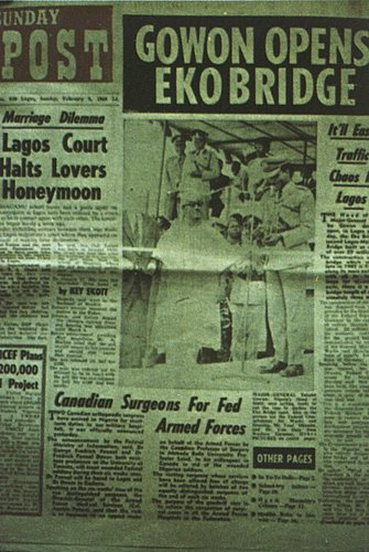 Newspaper article about the Eko Bridge